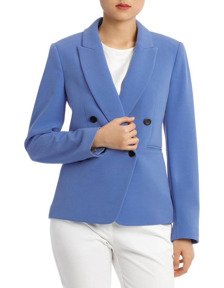 Button Dtl Double Breasted Blazer image 1