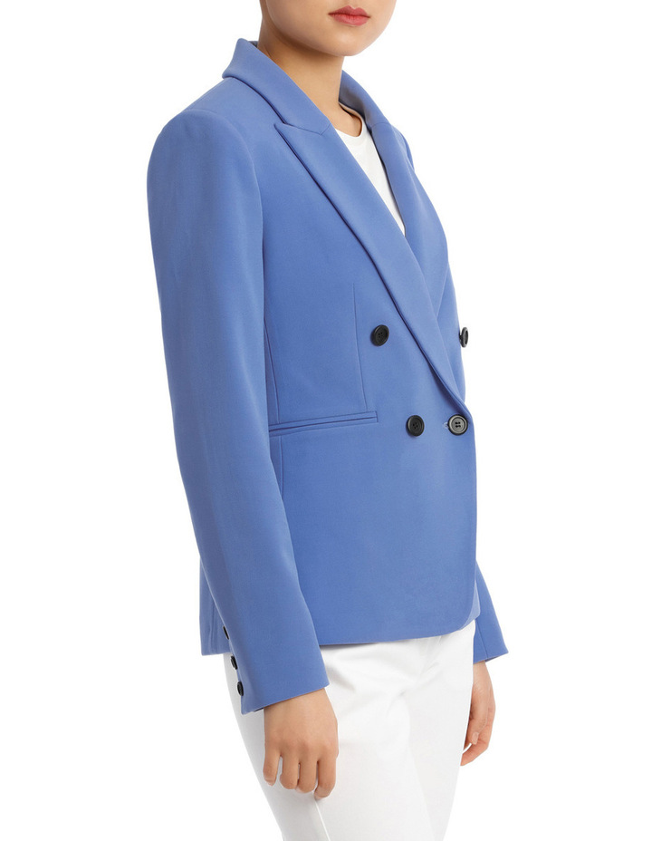 Button Dtl Double Breasted Blazer image 2