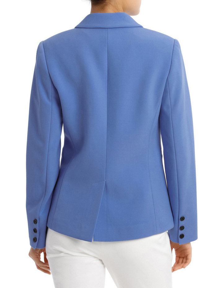 Button Dtl Double Breasted Blazer image 3