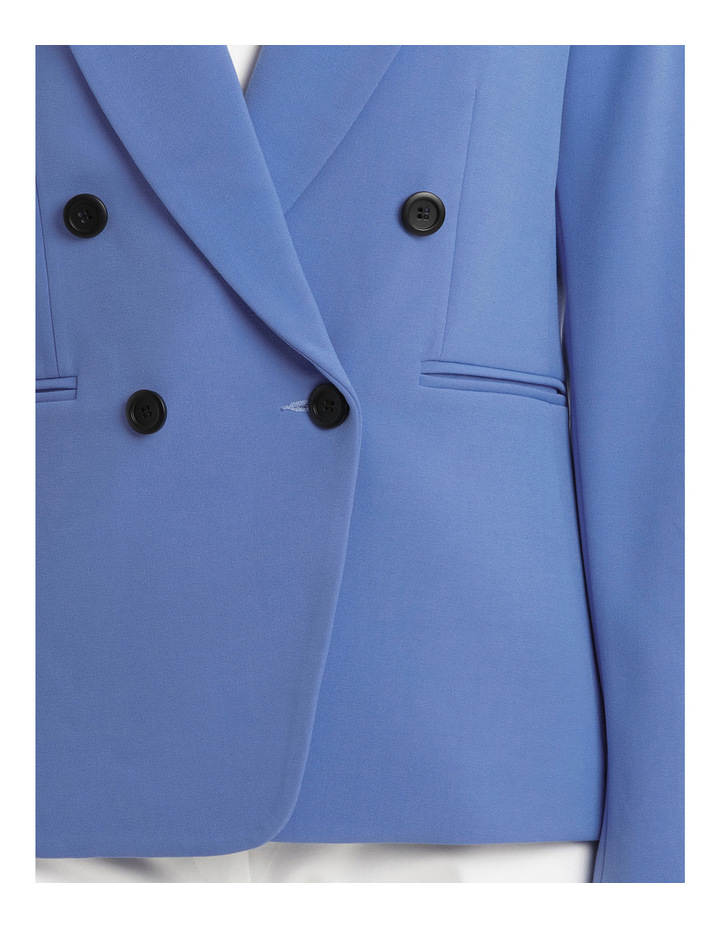 Button Dtl Double Breasted Blazer image 4