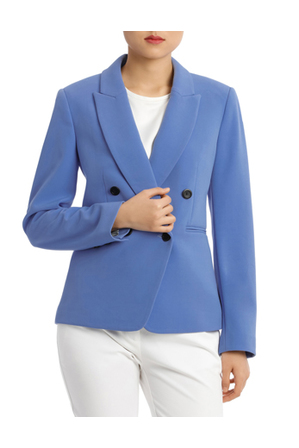 Basque Button Dtl Double Breasted Blazer | Tuggl