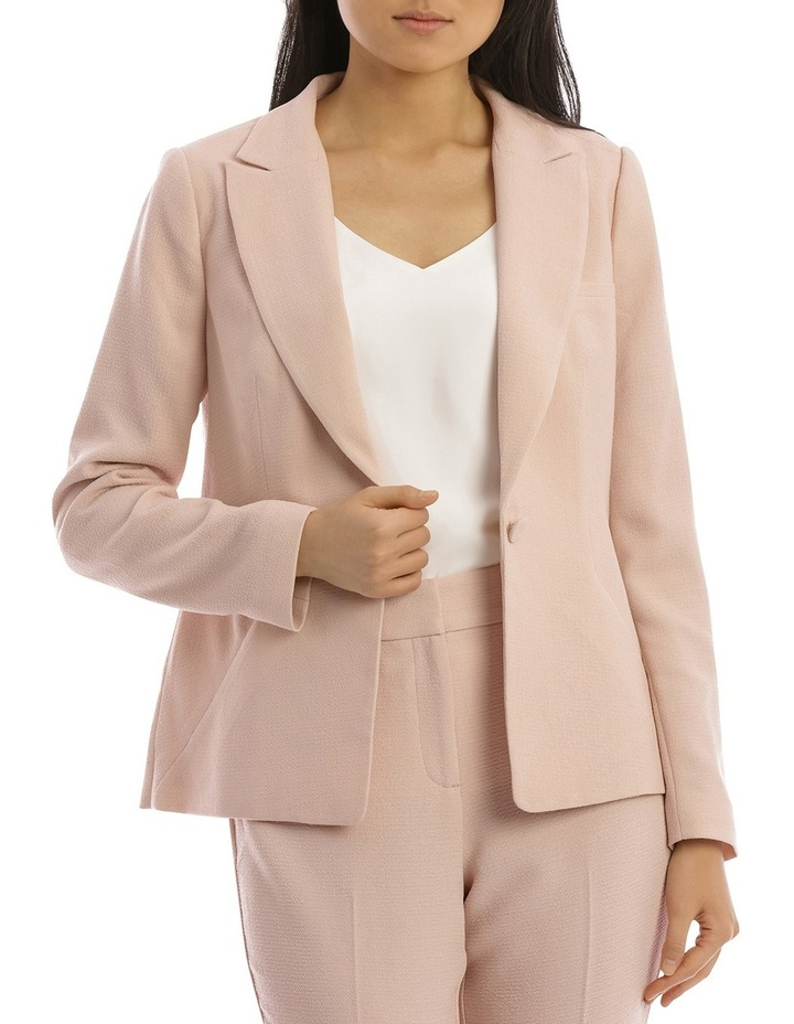 Textured Crepe Single Button Jacket image 1