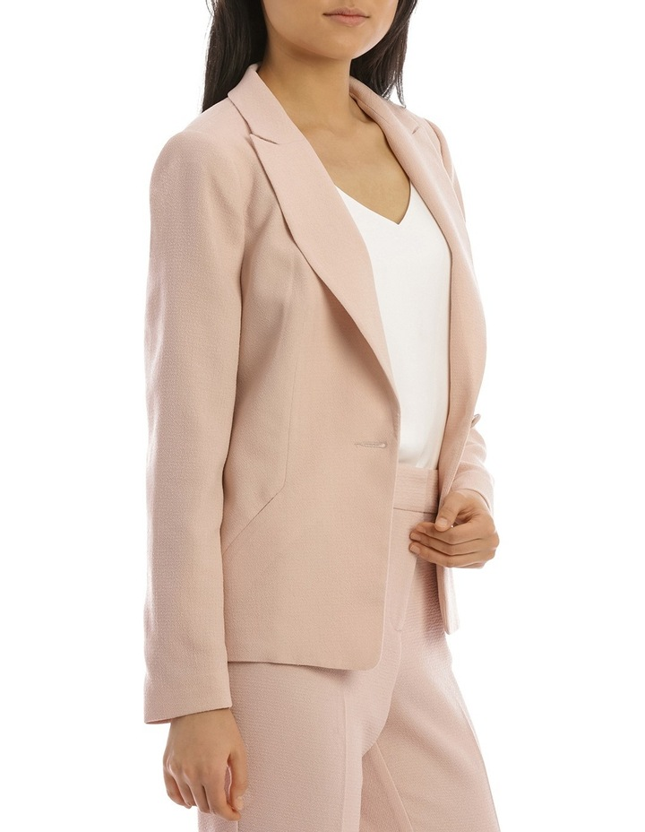 Textured Crepe Single Button Jacket image 2