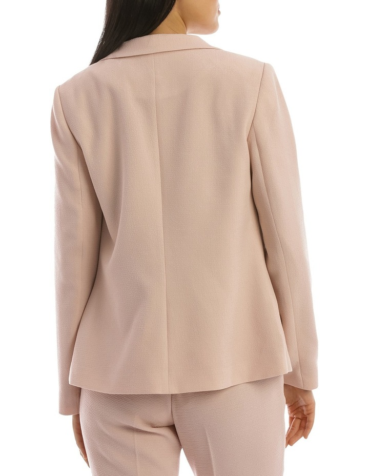 Textured Crepe Single Button Jacket image 3