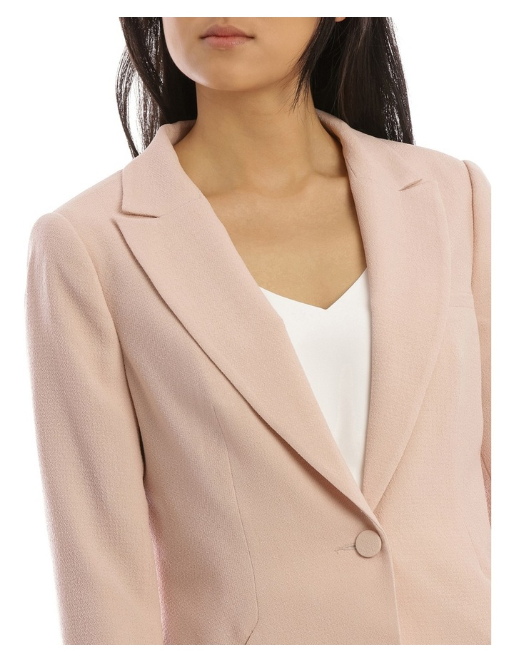 Textured Crepe Single Button Jacket image 4