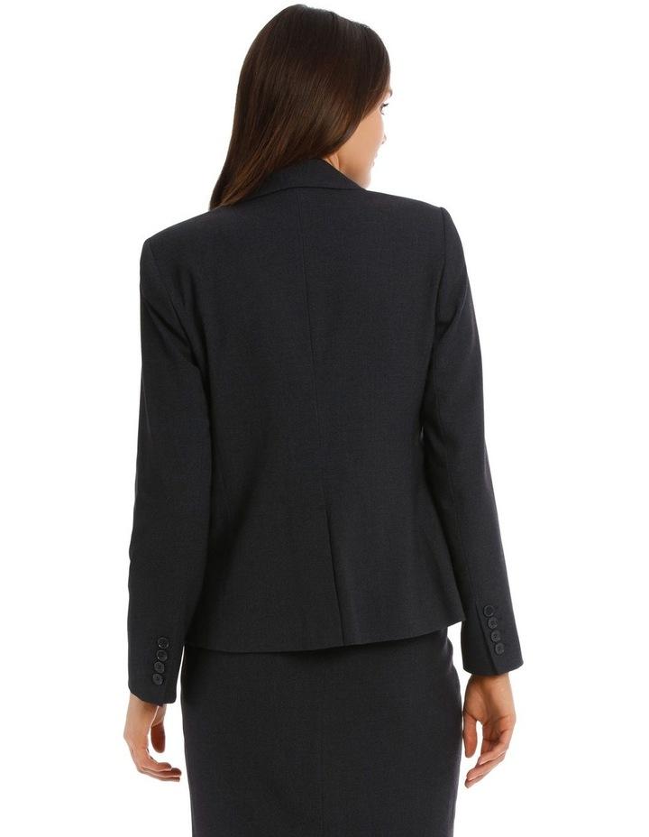 Birdseye Navy Suit Jacket image 3