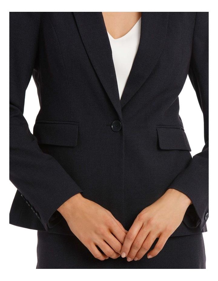 Birdseye Navy Suit Jacket image 4