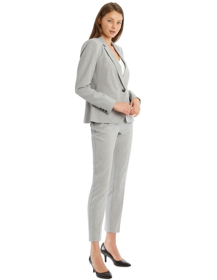 Grey Textured Suit Jacket image 2