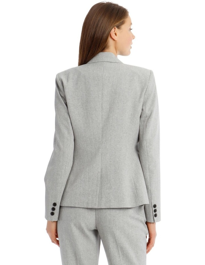 Grey Textured Suit Jacket image 3