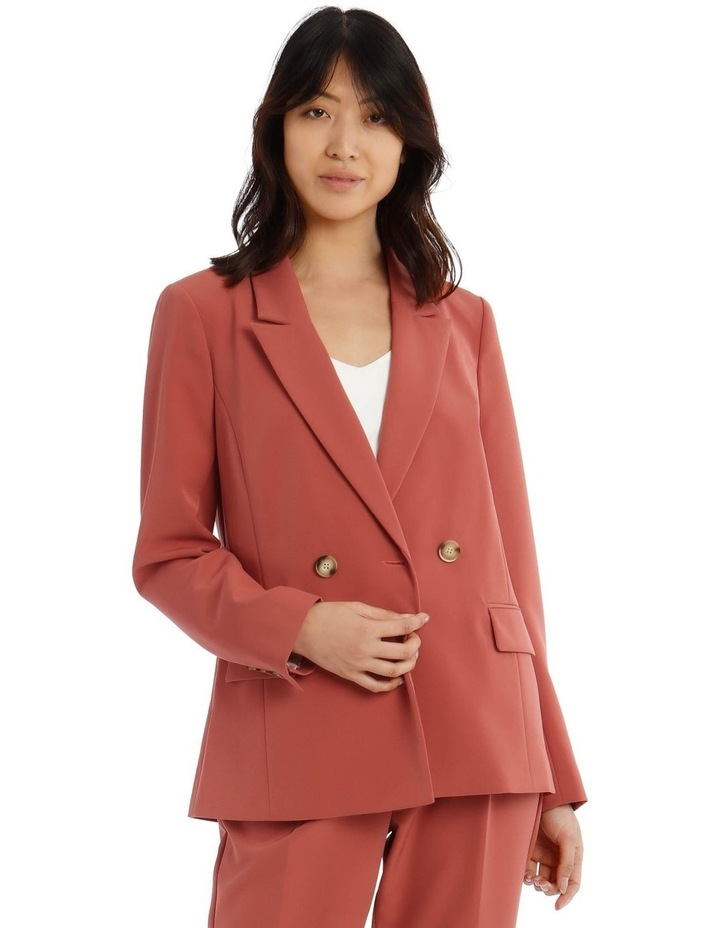 Double Breasted Blazer With Tort Buttons image 1