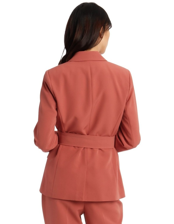Double Breasted Blazer With Tort Buttons image 3