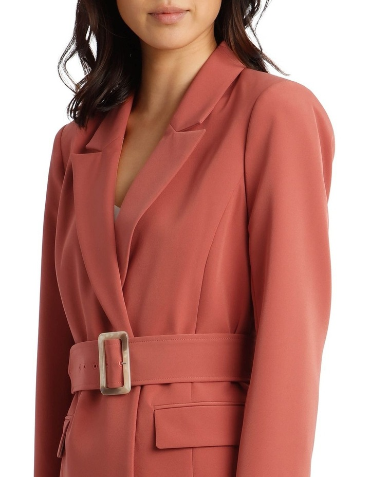 Double Breasted Blazer With Tort Buttons image 4