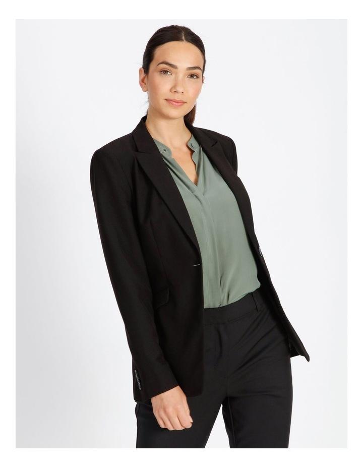 Black Single Button Suit Jacket image 1