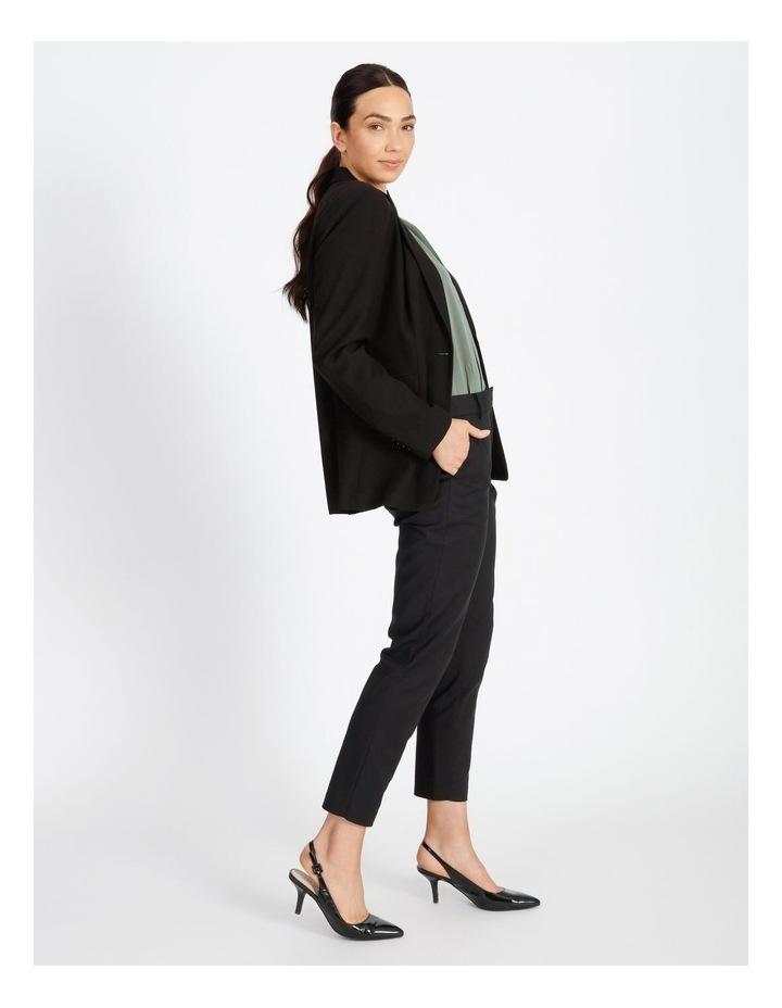 Black Single Button Suit Jacket image 2