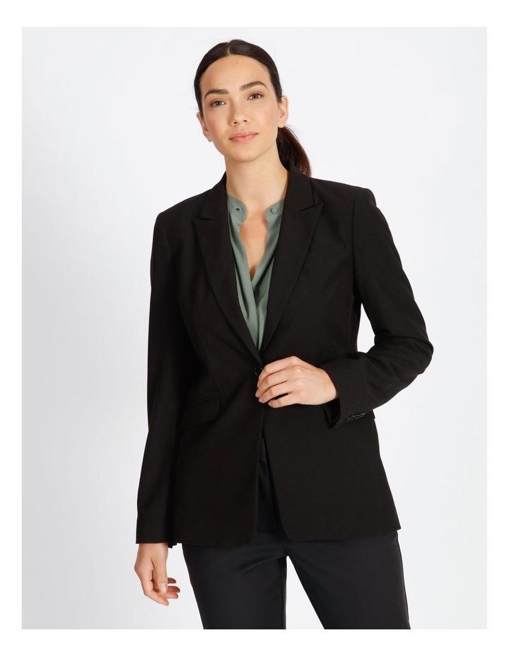 Black Single Button Suit Jacket image 3