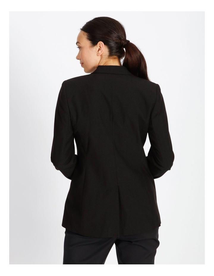 Black Single Button Suit Jacket image 4