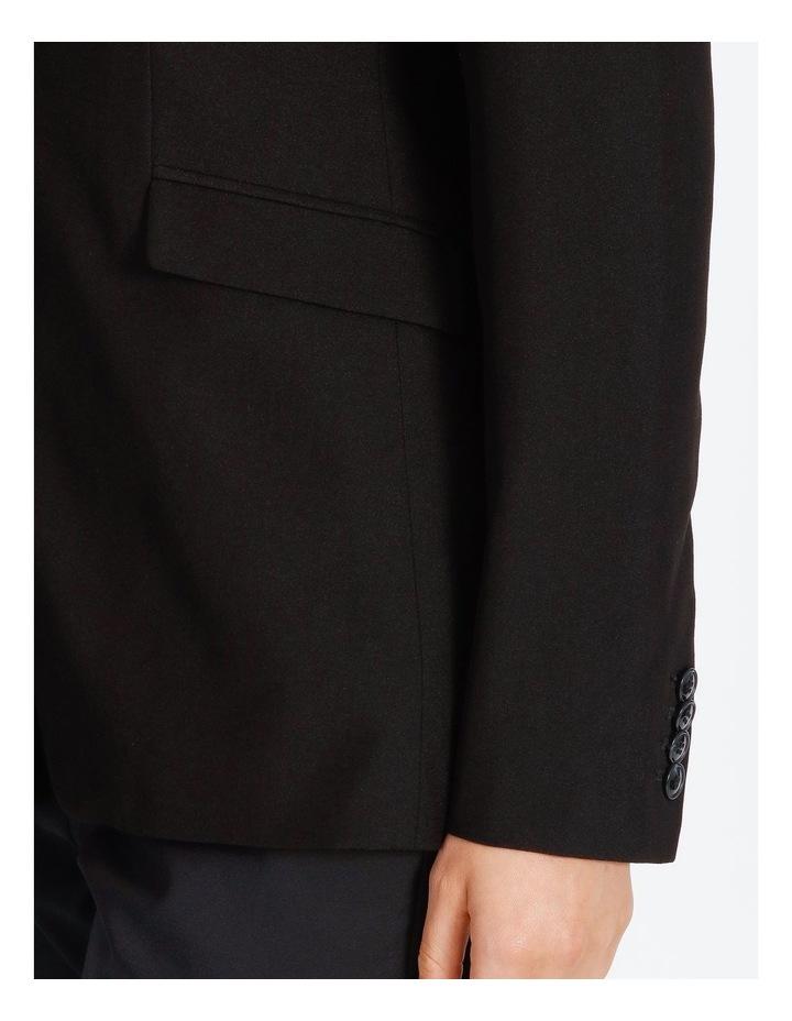 Black Single Button Suit Jacket image 5