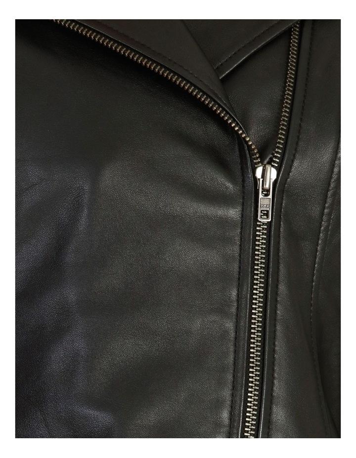 Leather Biker Jacket image 5