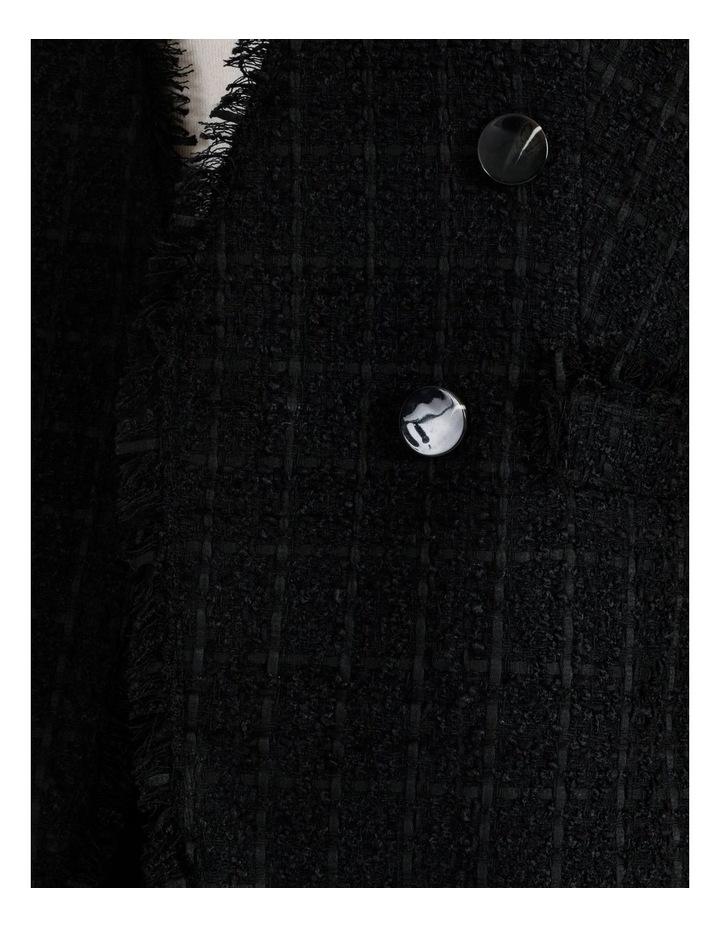 Boucle Edge To Edge Blazer Black image 5