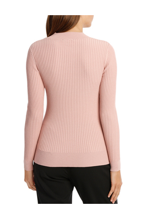 Basque - Chevron Rib High Neck Jumper