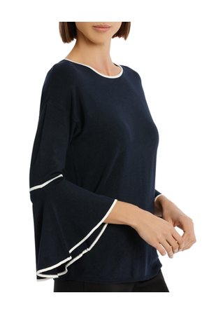 Basque - Tipping Fluted Sleeve Jumper