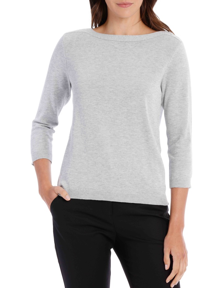 HOT PRICE BOAT NECK JUMPER image 1