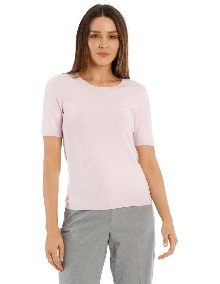 Short Sleeve Knitted Top image 1