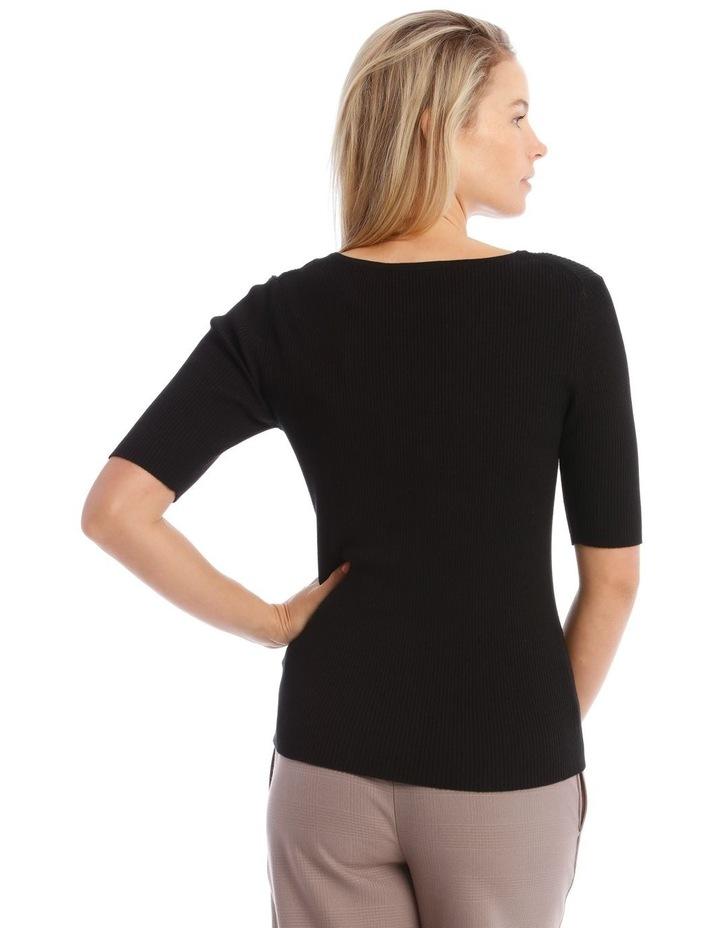Ribbed Short Sleeve Jumper image 3