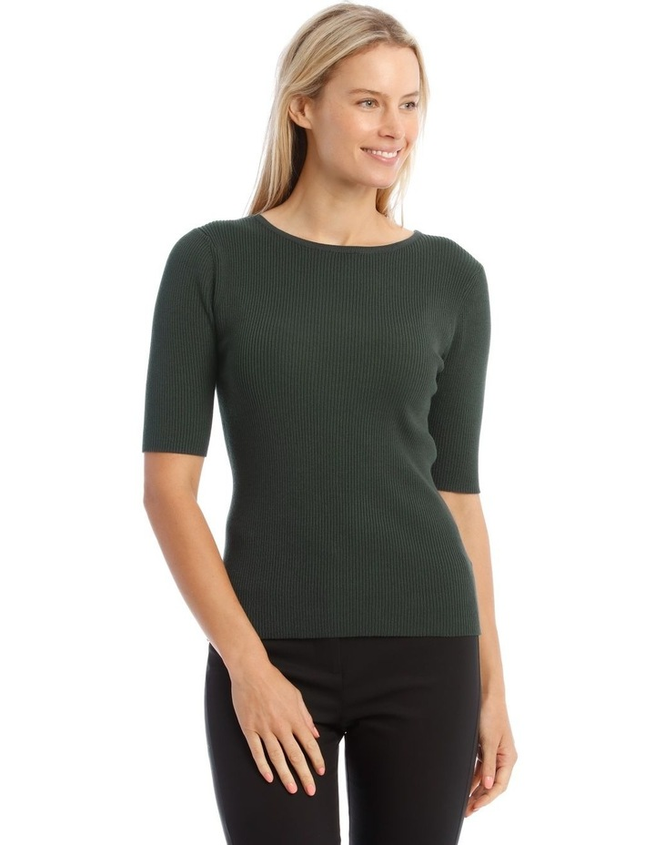Ribbed Short Sleeve Jumper image 1