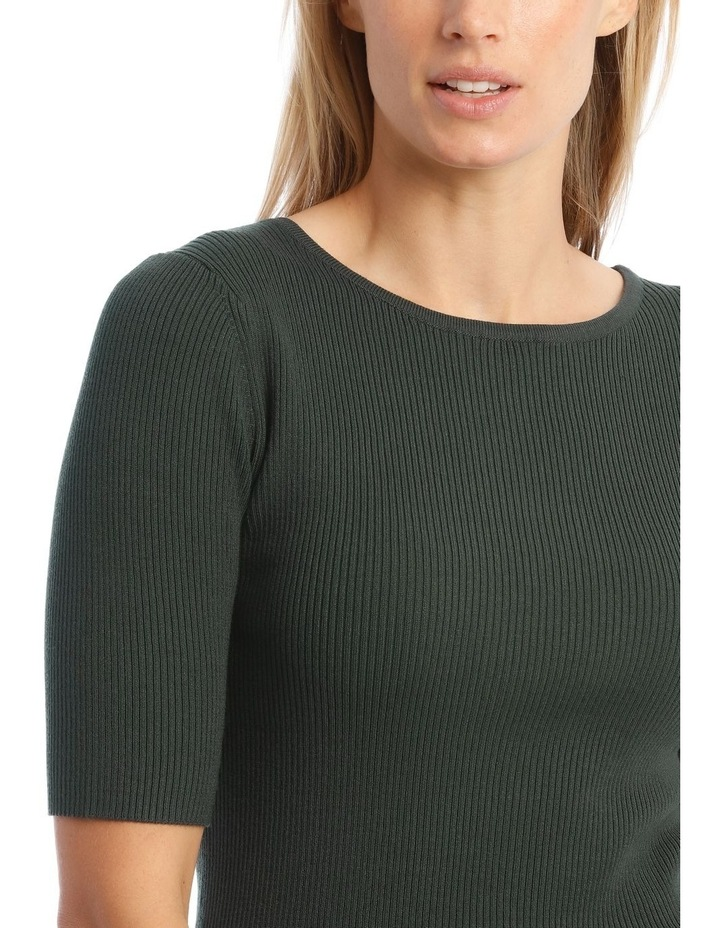 Ribbed Short Sleeve Jumper image 4