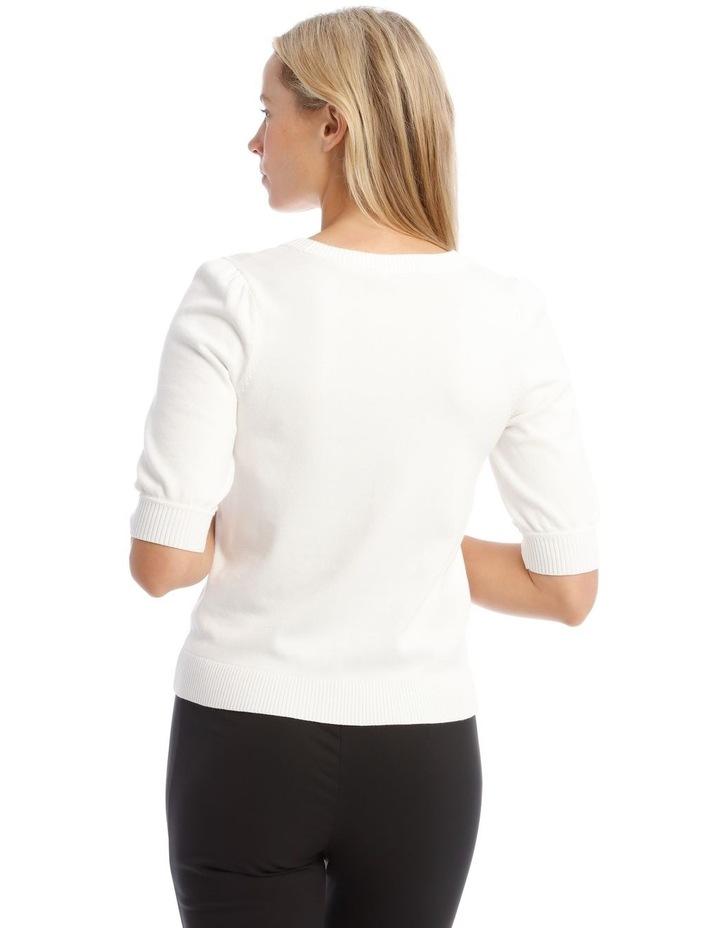 Knitted Short Sleeve Jumper image 3