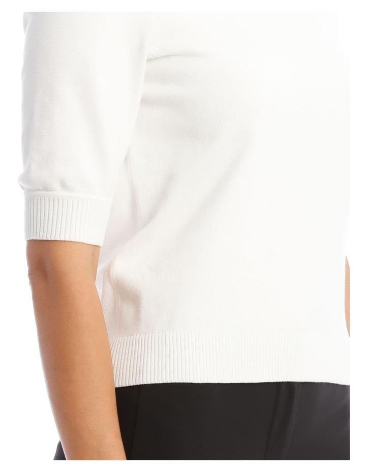 Knitted Short Sleeve Jumper image 4