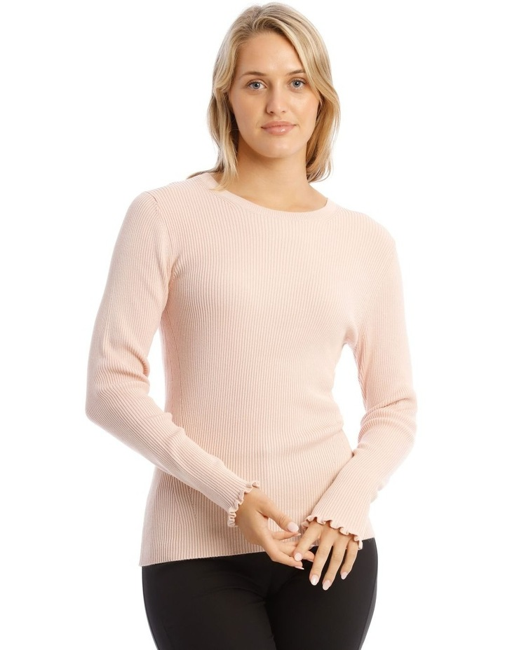 Ribbed Lettuce Cuff Jumper image 1