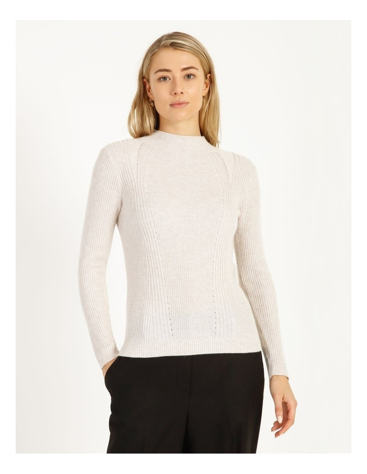 Ribbed High Neck Jumper image 1