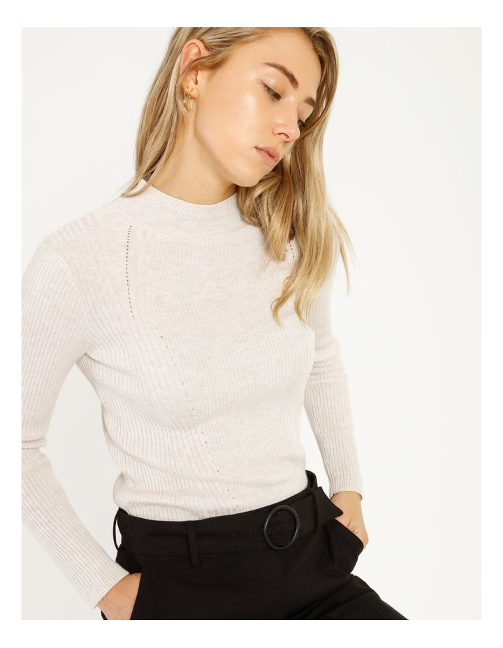 Ribbed High Neck Jumper image 3
