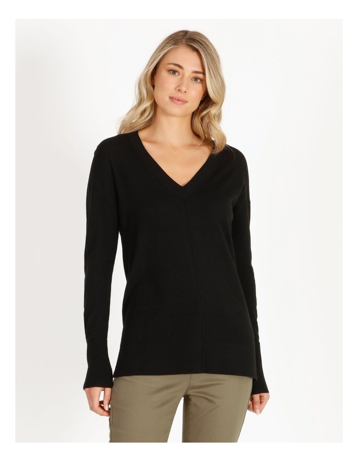 Merino Wool V-Neck Jumper image 1