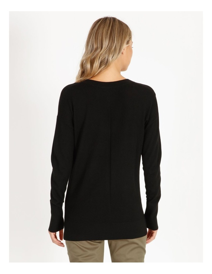 Merino Wool V-Neck Jumper image 3