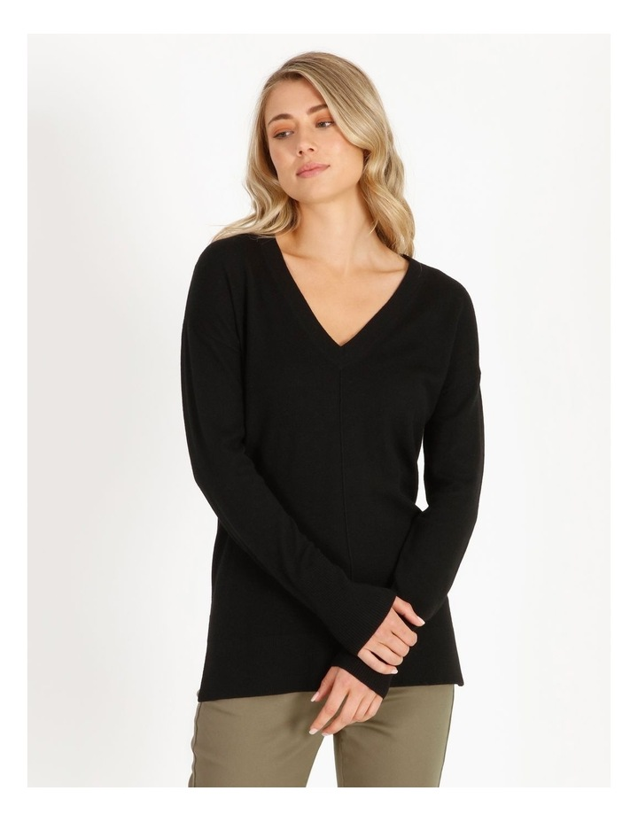 Merino Wool V-Neck Jumper image 4