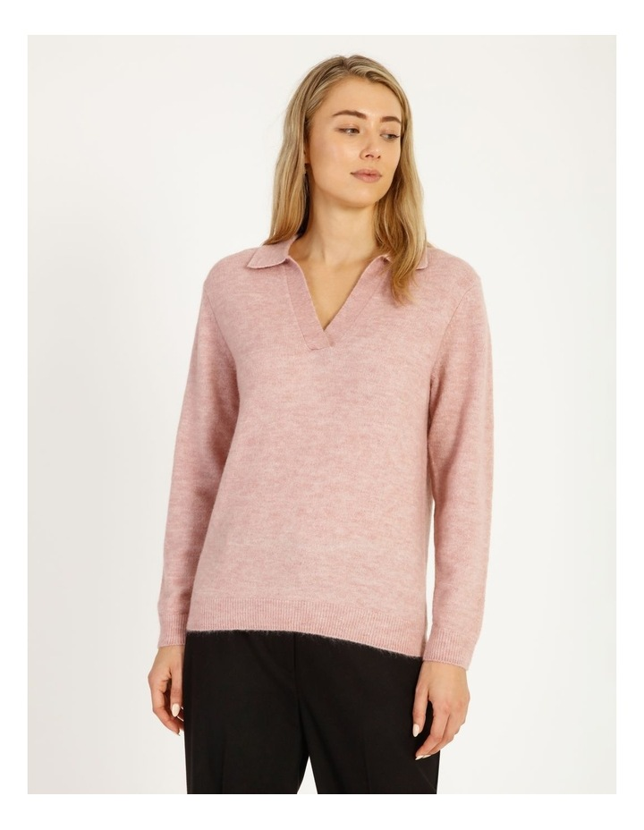 Placket Front Collared Knit image 1
