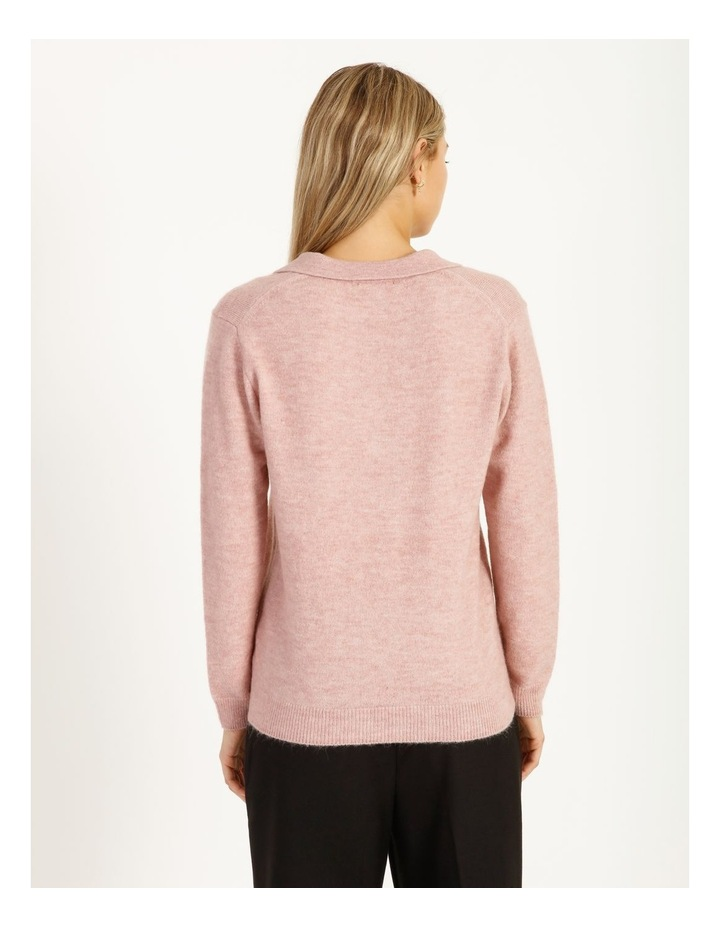 Placket Front Collared Knit image 6