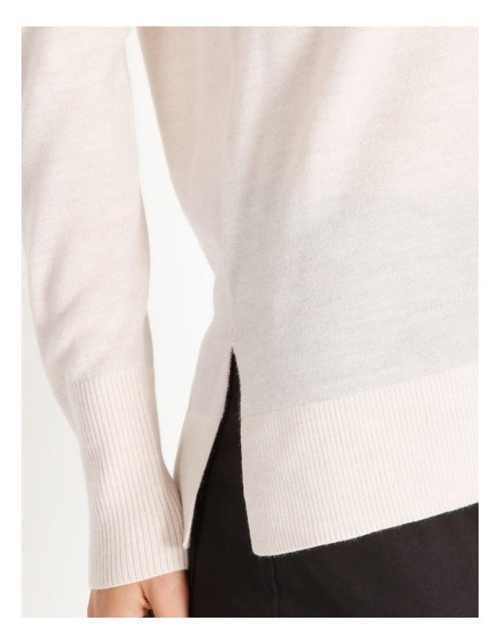 Merino Wool V Neck Jumper image 4