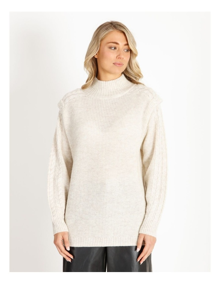 Cable Knit Detail Sweater image 1