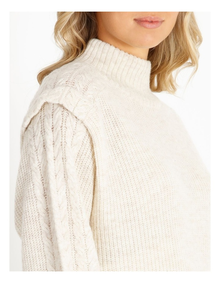 Cable Knit Detail Sweater image 4