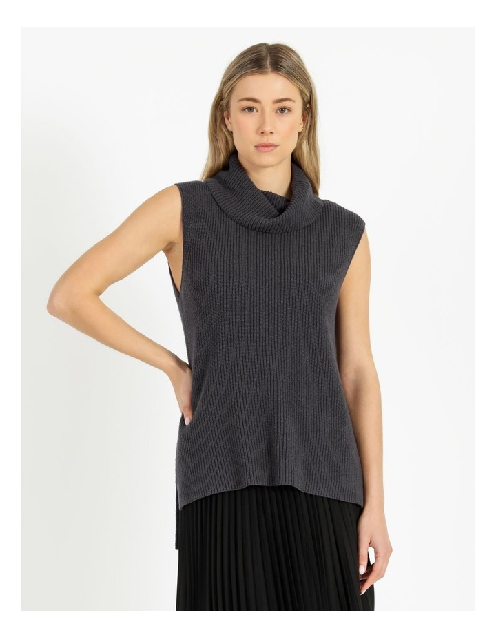 Roll Neck Knitted Vest image 1