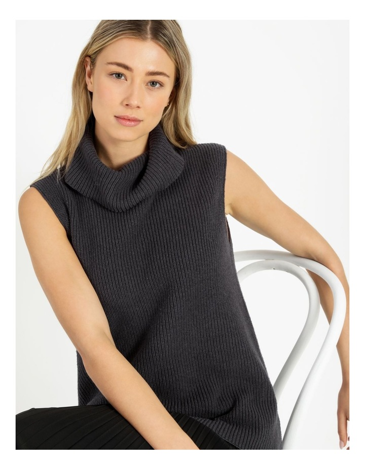 Roll Neck Knitted Vest image 5