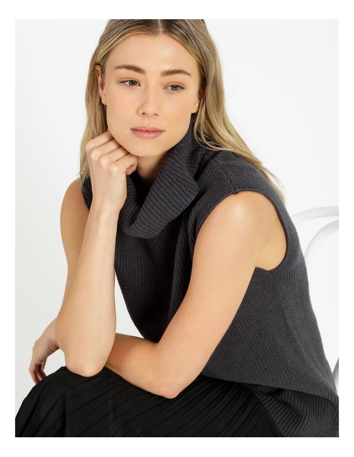 Roll Neck Knitted Vest image 6