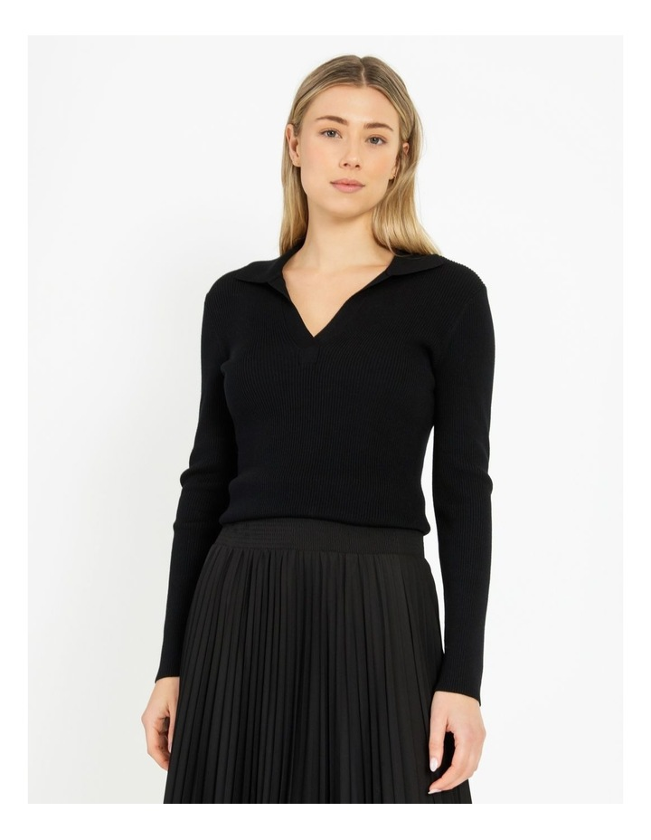 Ribbed Polo Neck Jumper image 1