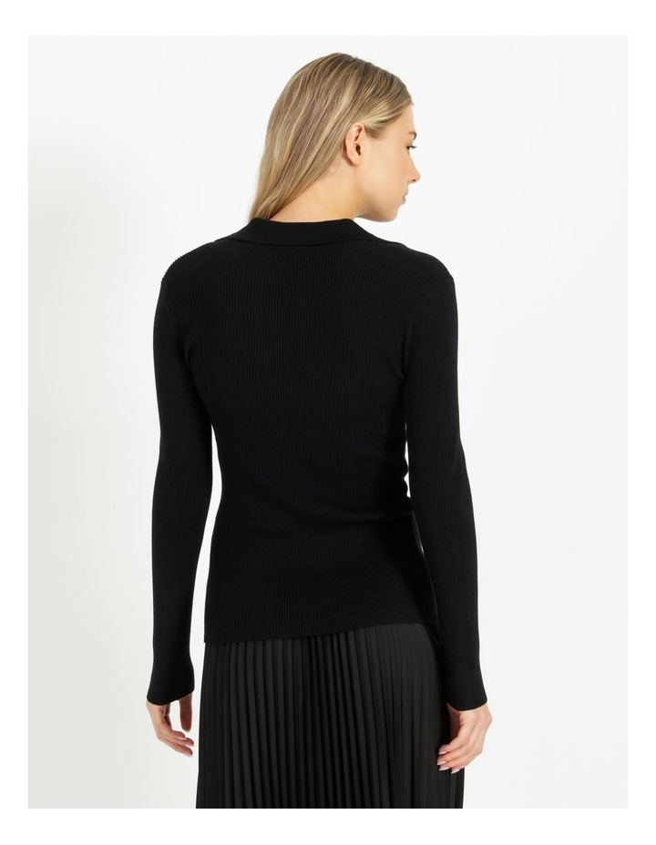 Ribbed Polo Neck Jumper image 3