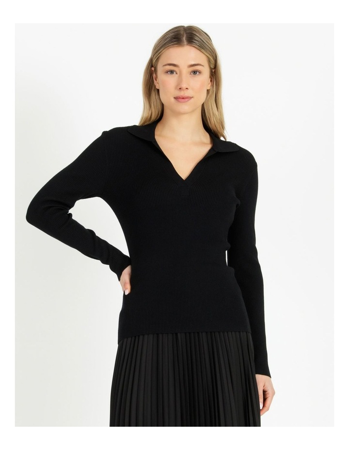 Ribbed Polo Neck Jumper image 4