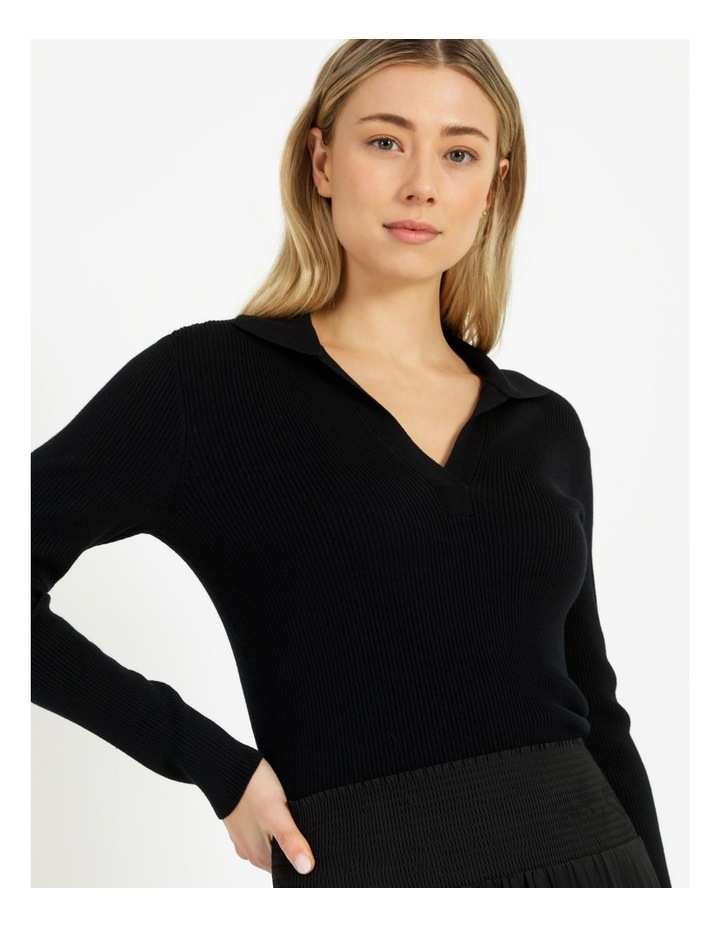 Ribbed Polo Neck Jumper image 5